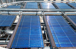 Solar water heater on roof Barcelona Royalty Free Stock Photography