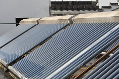Solar  water heater system 4 Royalty Free Stock Photos