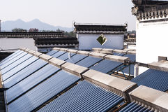Solar  water heater system Stock Photography