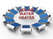 Solar water heaters concept Royalty Free Stock Images