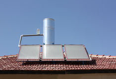 Solar water heating panel Royalty Free Stock Photos