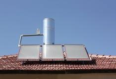 Solar water heating panel royalty free stock photos