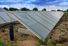 Solar Water Heating Station Royalty Free Stock Photo