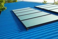 Solar water heating system Royalty Free Stock Images