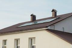 Solar water heating system Stock Photos