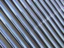 Solar water heating tubes. Parallel heat pipes of a pressurized solar household water system Stock Photography