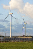 Solar and wind energy Royalty Free Stock Photos