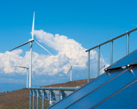 Solar and wind power Royalty Free Stock Photos