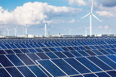 Solar and wind power. Eastphoto, tukuchina, Solar and wind power Stock Images
