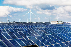 Solar and wind power. Eastphoto, tukuchina, Solar and wind power Royalty Free Stock Images