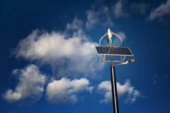 Solar and wind street lamp Stock Image