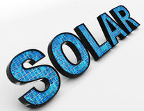 Solar Word Shows Alternative Energy And Sunlight Royalty Free Stock Image