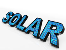 Solar Word Shows Eco Energy And Sunlight Royalty Free Stock Images