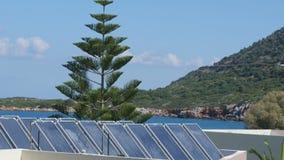 Solarbatterien am Sun-Tag stock footage