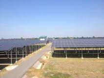 Solarbauernhof Stockfoto