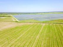 Solarbauernhofantenne in Austin, Texas, USA Stockfoto