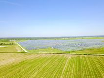 Solarbauernhofantenne in Austin, Texas, USA Stockbild
