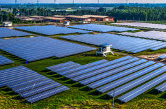 Solarbauernhofsonnenkollektoren Lizenzfreie Stockfotografie