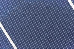 Solarcel-Plattenabschluß oben, Detail Stockfoto