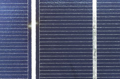 Solarcel-Plattenabschluß oben, Detail Stockbild