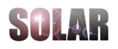 Solare Immagine Stock