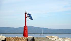 Solare marittimo del faro Immagini Stock Libere da Diritti