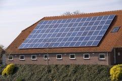 Solare sul tetto Fotografia Stock