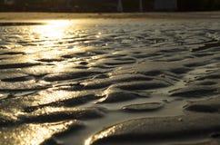 Solare sulla sabbia Fotografia Stock