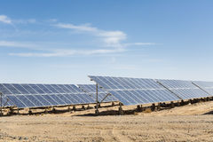 Solarenergie auf Gobi Stockbilder