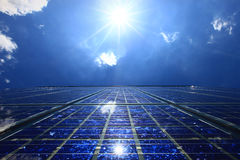 Solarenergie - Energie-Rücklauf Lizenzfreie Stockfotos