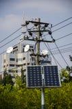Solarenergie und Telekommunikation stockfoto