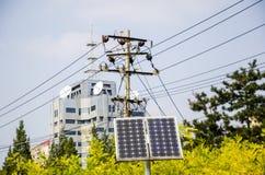 Solarenergie und Telekommunikation stockfotografie