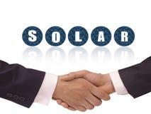 Solarenergieenergievereinbarungskonzept-Hintergrunddesign Lizenzfreie Stockfotos