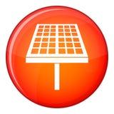 Solarenergieplattenikone, flache Art Stockfotografie