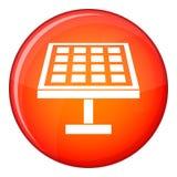 Solarenergieplattenikone, flache Art Stockfotos