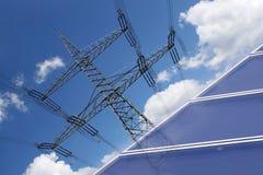 Solarenergier zur Stromerzeugung Royalty Free Stock Photo