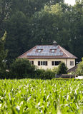 Solarhaus Stockbild