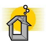 Solarhaus Stockfoto