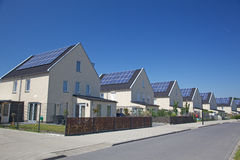 Solarhaus lizenzfreie stockfotografie