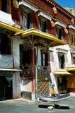 Solarheizung in Tibet Stockbild