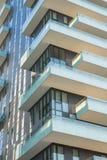 Solaria, nowi moda budynki mieszkaniowi w Porta Nuova terenie Mediolan Maj 2017 Włochy, Mediolan, Torre - Obraz Stock
