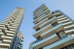 Solaria, nowi moda budynki mieszkaniowi w Porta Nuova terenie Mediolan Maj 2017 Włochy, Mediolan, Torre - Obraz Royalty Free