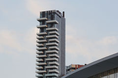 Solaria tower. The solaria tower in milan Royalty Free Stock Photo