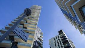 Solaria tower, Milan, Porta Nuova skyscraper residences, Italy Royalty Free Stock Images