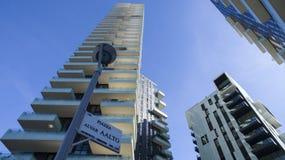 Solaria tower, Milan, Porta Nuova skyscraper residences, Italy Royalty Free Stock Photography