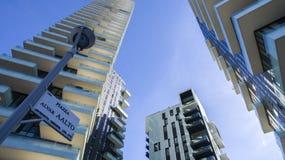Solariatoren, Milaan, de wolkenkrabberwoonplaatsen van Porta Nuova, Italië Stock Foto's