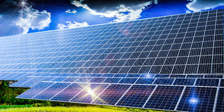 Solarinstallation Lizenzfreies Stockbild