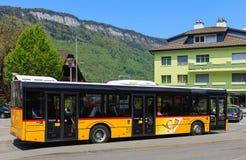 Solaris Urbino 12 postbus in Zwitserland Royalty-vrije Stock Foto's