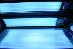Solarium allumé Photos libres de droits