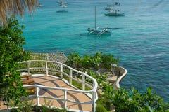 Solarium dans l'hôtel, île de Boracay, Philippines Photos stock